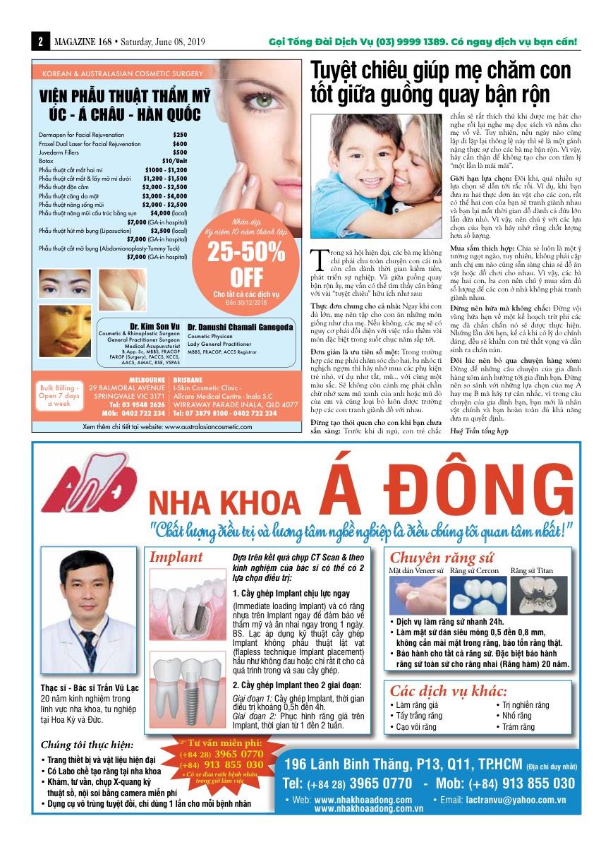 Vietnamese newspaper in Australia: Magazine 168 - Edition